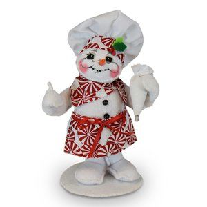 Annalee Adorable 5in Peppermint Chef Christmas Snowman NWT